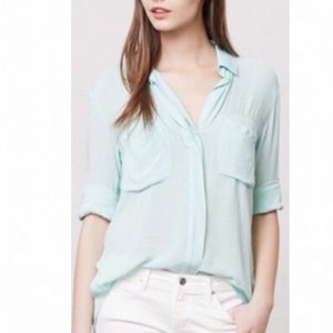 Anthropologie / Cloth & Stone Split Back Mint